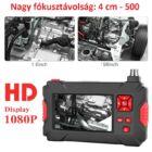 """Endoszkóp duál kamerával IP68 vízálló (5 méter), 4,3"""" kijelzővel, HD 1080P, 8+1 LED-es"""