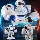 Harci robot mozgásérzékelős, távirányítós, táncoló