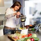 Multifunkciós kézi zöldségszeletelő Rotary Slice vágógép
