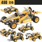 Távirányítós, versenyautó építőkészlet 468 db-os