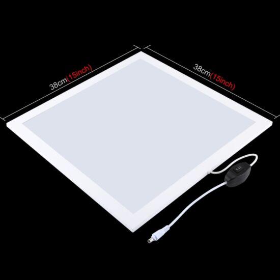 Árnyékmentes foto fény LED panel 38x38 cm