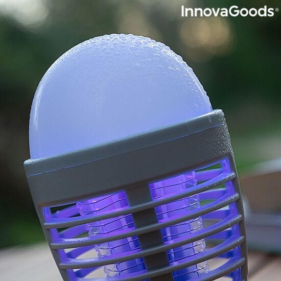 InnovaGoods szúnyogriasztó lámpa újratölthető 2 az 1-ben LED-del (KL BULB)