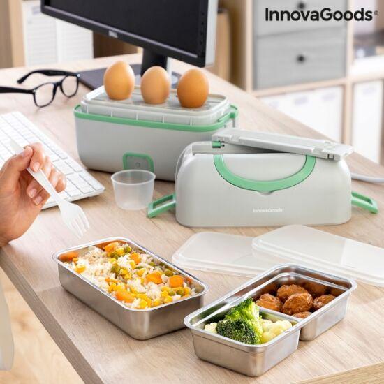 InnovaGoods 3 az 1-ben elektromos pároló ebéddoboz receptekkel (BENEAM)