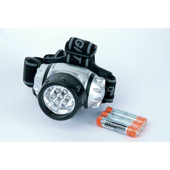 LED fejlámpa MANNESMANN 3 fokozatú + elem