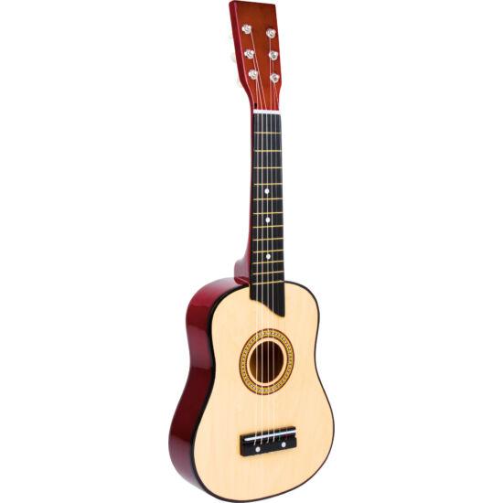 Klasszikus gyerek gitár 6 fém húros hársfa 65cm 4-8 éveseknek natúr