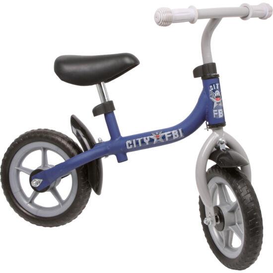 Futóbicikli, fém vázas tanuló kerékpár kék (City R.)