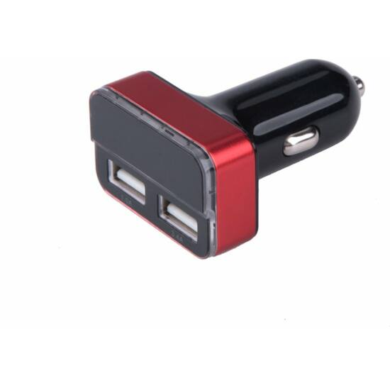 Autós töltő szivargyújtós /dupla USB, 1,0A+3,4A/ 37W (42084)