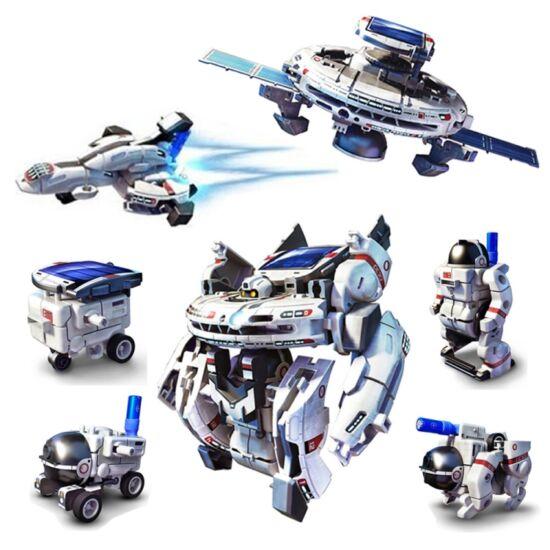 DIY Napelemes űr robot játék 7 az 1-ben
