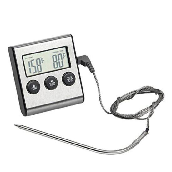 Digitális sütőhőmérő, beszúrós konyhai hőmérő