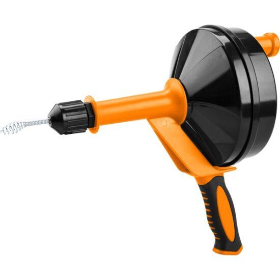 EXTOL lefolyócső tisztító, dobos, 6m, 6mm átmérő,  kézi tekerővel, (1,8mm drótból sodorva) 5464