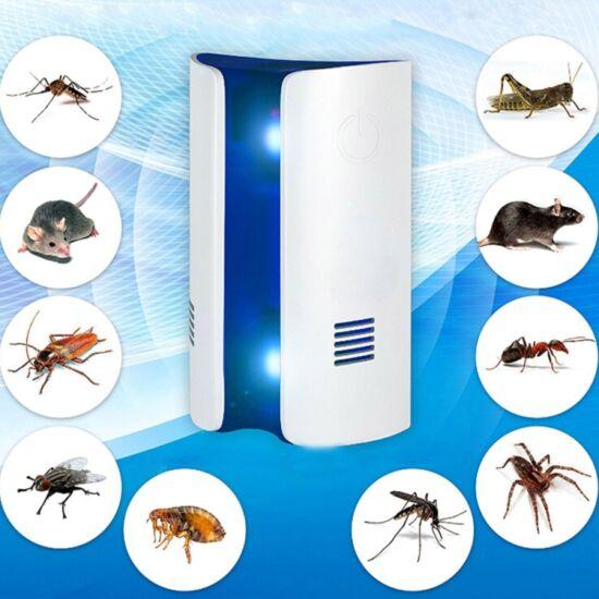 Elektromos rágcsálóriasztó és rovarriasztó, dupla piezó hangszórókkal