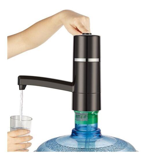 Elektromos vízadagoló készülék ballonos vízhez, kifolyócsővel, fekete