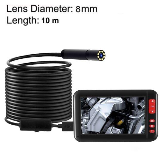 """Endoszkóp kamera 4,3"""" kijelzővel, HD 1080P, 8 LED-es (10 méter)"""