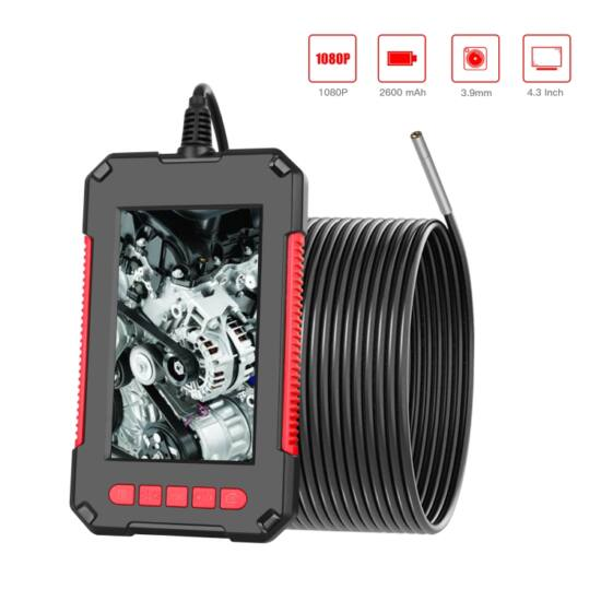 """Endoszkóp kamera függőleges kijelzővel (4,3""""), 3,9 mm, HD 1080P, 8 LED-es (2 méter)"""