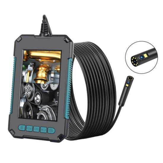 """Endoszkóp duál kamerával, 8 mm, függőleges kijelzővel (4,3""""), IP68, 1080P, 8+1 LED-es (5 méter)"""