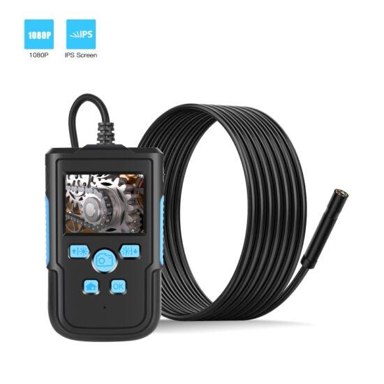 """Endoszkóp kamera, 2,4"""" kijelzővel, IP68 vízálló (10 méter), 5,5mm, HD 1080P, 8 LED-es"""