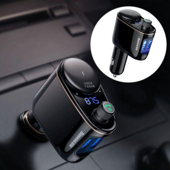 FM transzmitter szivargyújtós, MP3 lejátszó, Bluetooth V4.2, USB töltő