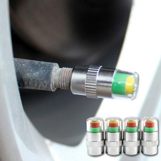 Gumiabroncsnyomás-figyelő szelepsapka 4 db-os (2,4 bar)