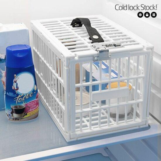 Hűtő tároló zárható, hűtőszekrénybe