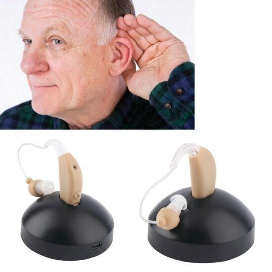 Hallókészülék, hangerősítő, nagyothalló készülék újratölthető