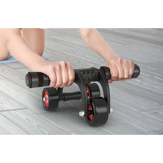 Hasizom erősítő roller 3 kerekű