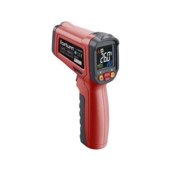 Infravörös digitális hőmérő -50°C +800°C, LCD kijelzővel (Fortum 4780401)