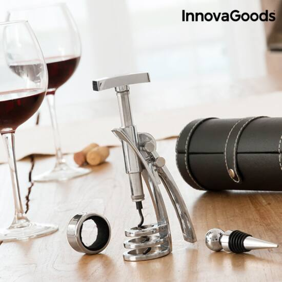 InnovaGoods borkiegészítő készlet screwpull dugóhúzóval (4 darabos)