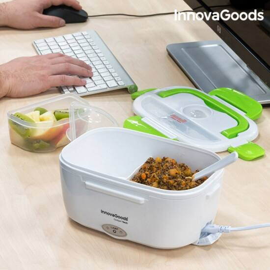 InnovaGoods elektromos ételtároló 40W fehér-zöld