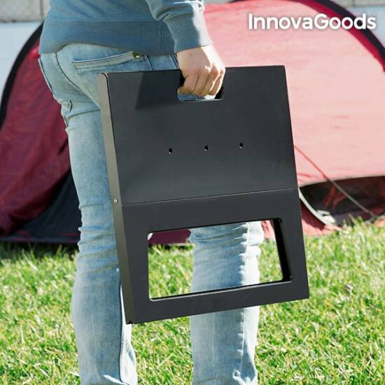 InnovaGoods hordozható és összecsukható faszenes barbecue sütő
