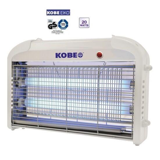 Elektromos rovarcsapda 120m2 KOBE EIKO UV 2x10W ( 20W ) DC 7000V rácsfeszültség ALU ház