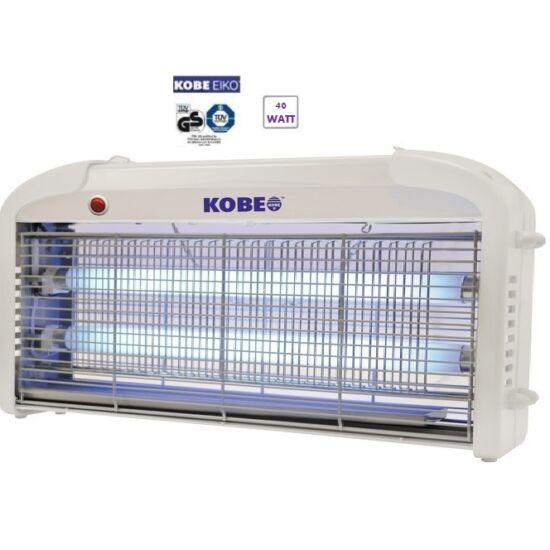 Elektromos rovarcsapda 200m2 KOBE EIKO UV 2x20W ( 40W ) DC 7000V rácsfeszültség ALU ház