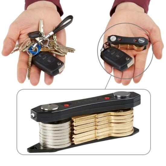 Key Ninja multifunkciós kulcstartó LED-es világítással és üvegnyitóval (fekete)