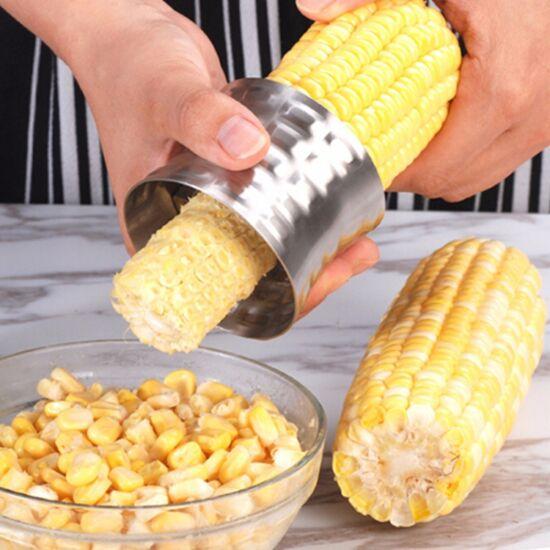 Kukorica szemező-hámozó kerek, fém