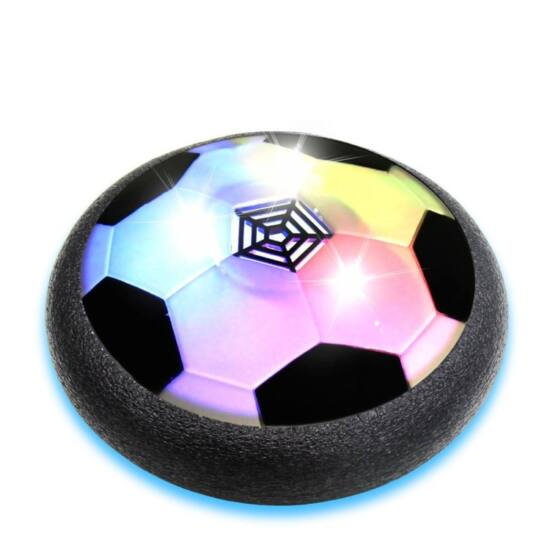 Légpárnás világító focilabda (fekete)