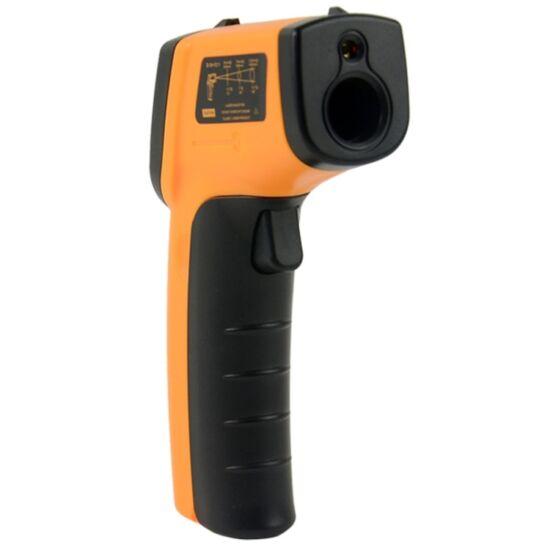 Lézeres infra hőmérő pisztoly -50 +380°C digitális LCD kijelzővel
