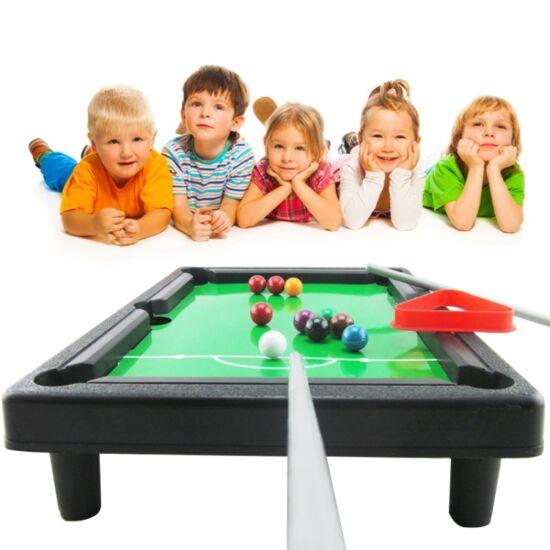 Mini játék biliárdasztal szett