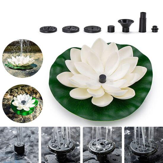 Napelemes úszó szökőkút /lótusz virág/