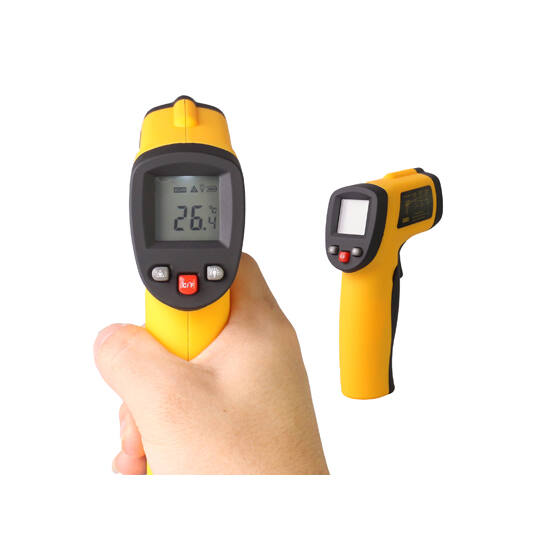 Lézeres infra hőmérő pisztoly -50 +550°C digitális  LCD kijelzővel