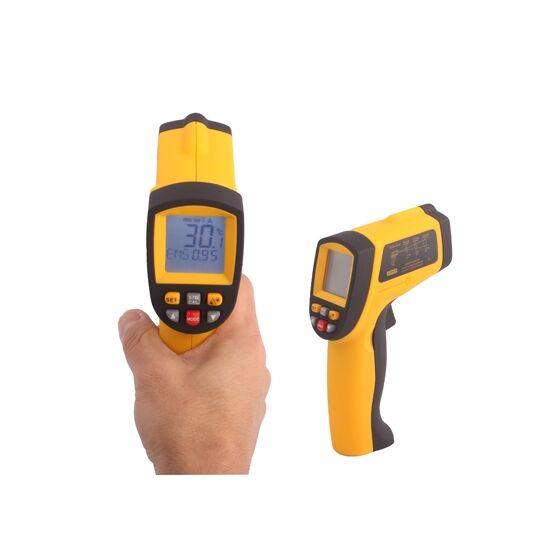 Lézeres infra hőmérő pisztoly -50 +700°C digitális  LCD kijelzővel