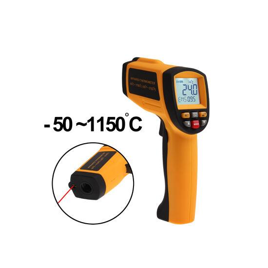 Lézeres infra hőmérő pisztoly -50 +1150°C digitális  LCD kijelzővel