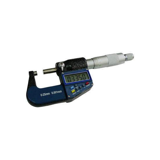 Precíziós digitális mikrométer anyagvastagság mérő 0-25mm / 0.001mm