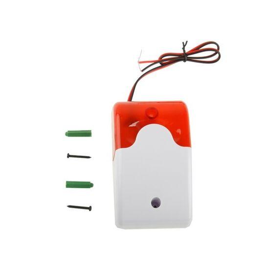 12V riasztó rendszer sziréna villogó fény + 110dB hang