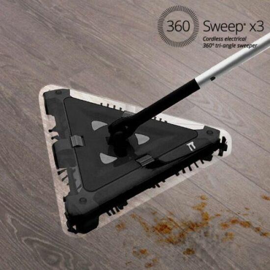 Sweep háromszög alakú elektromos söprű 360° 7,2 V fekete