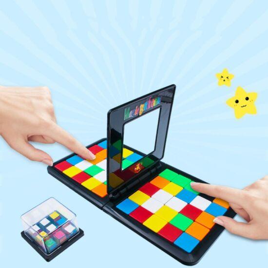 Táblás tologatós kirakó játék, színekkel