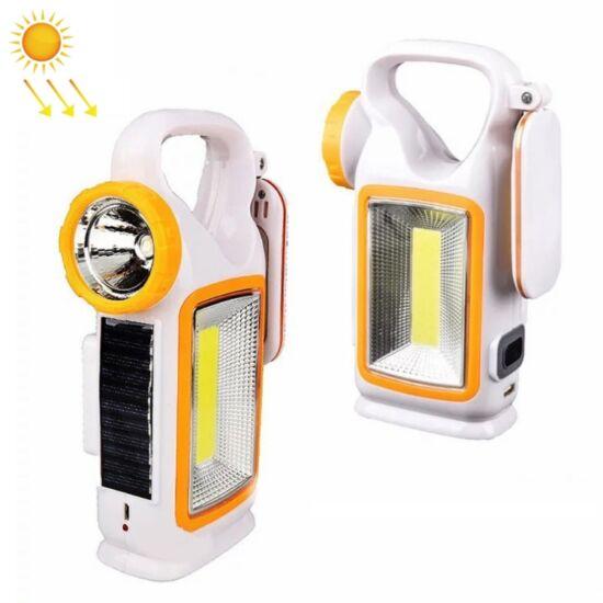 Többfunkciós napelemes újratölthető világítás, hordozható LED lámpa, kemping lámpa