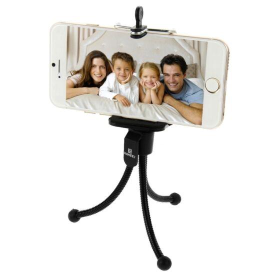 Tripod flexibilis fényképezőgép és telefon állvány