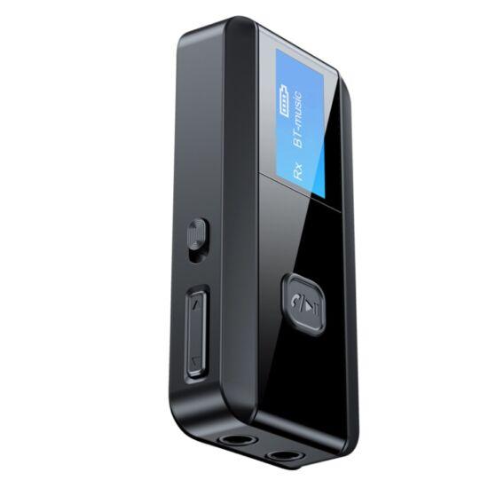 Vezeték nélküli Bluetooth 5.0 audio adó-vevő (transmitter & receiver) kijelzővel (C29)