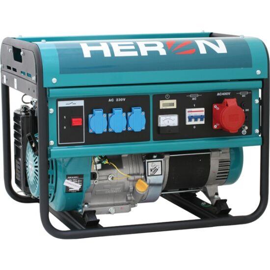 HERON Benzinmotoros áramfejlesztő, max 6000 VA, háromfázisú (EGM-60 AVR-3) agregátor (8896112)