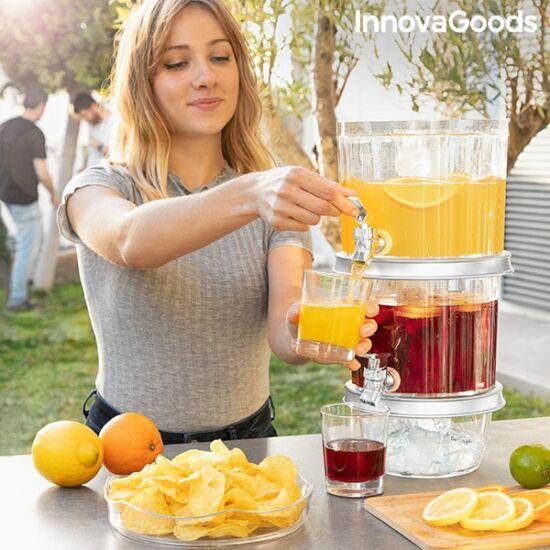 InnovaGoods dupla italadagoló jégrekeszekkel és snack tálcával TwinTap