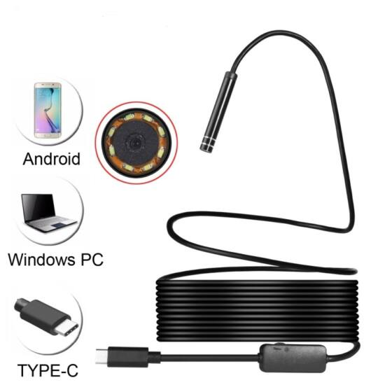 USB 2m színes endoszkóp kamera IP67